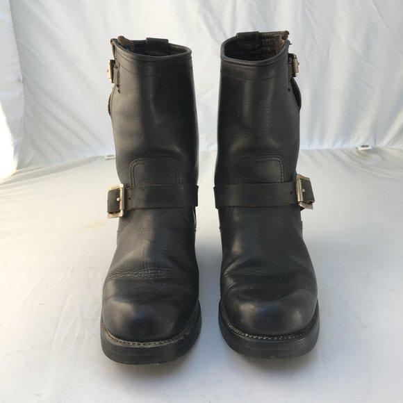 Sonoma Men/'s Edmund Black Leather Biker Motorcycle Boots SIZES NIB NEW